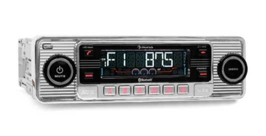 Car-Media Auna TCX-1-RMD-Sender-Two Autoradio mit Bluetooth, USB und SD im Retro Design - News, Bild 1
