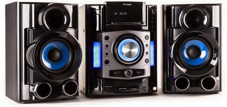 futuristische stereoanlage mit hdmi s video usb und sd kartenslot. Black Bedroom Furniture Sets. Home Design Ideas