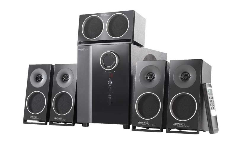 auvisio pcm 5 1 surround soundsystem mit optischem audio. Black Bedroom Furniture Sets. Home Design Ideas