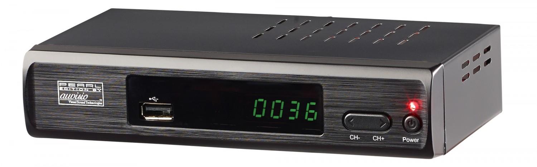 einsteiger receiver f r dvb t2 von pearl media player und internet dienste. Black Bedroom Furniture Sets. Home Design Ideas