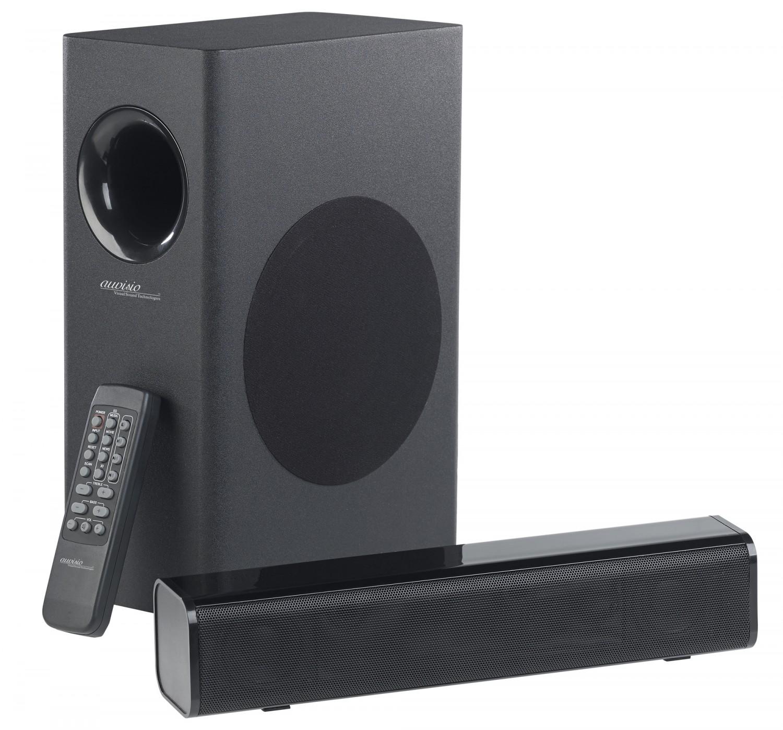 Heimkino Kompakte 2.1-Soundbar von Auvisio mit externem Subwoofer und Bluetooth - News, Bild 1