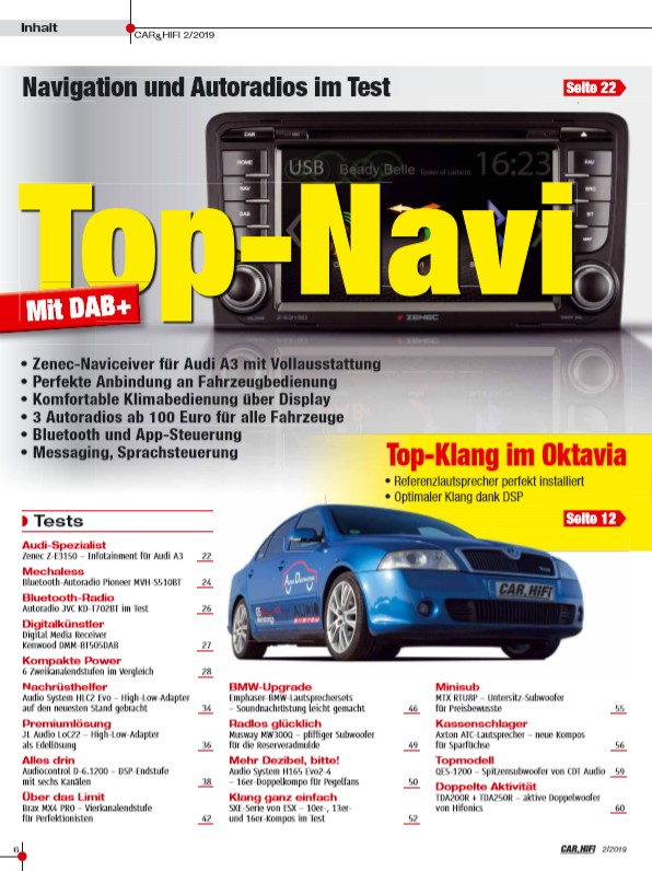 "Car-Media In der neuen ""CAR&HIFI"": Top-Navi mit DAB+ - Neun Lautsprecher im Test - News, Bild 2"
