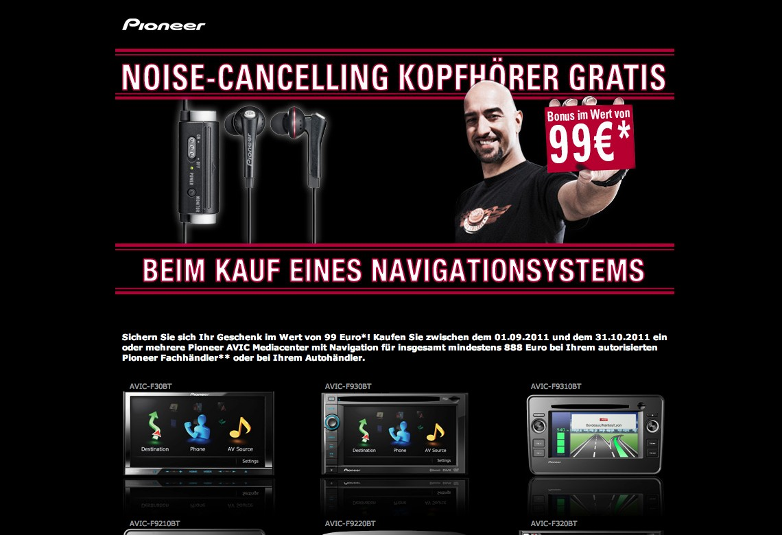 Car-Media Pioneer Noise-Cancelling Kopfhörer gratis - News, Bild 1