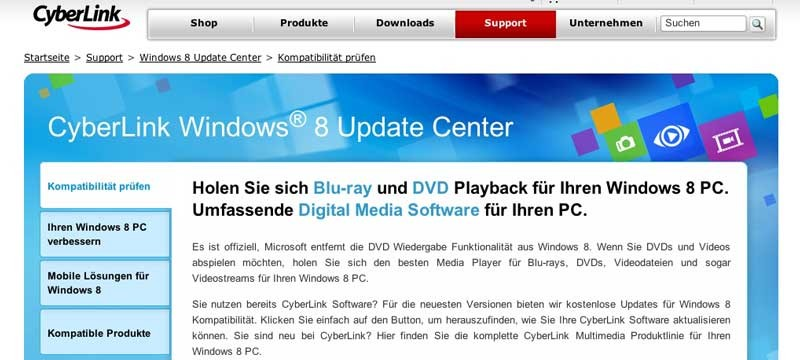 Foto & Cam Das neue CyberLink Windows 8 Update Center - News, Bild 1