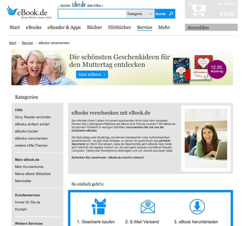 mobile Devices E-Books verschenken: eBook.de macht´s möglich - News, Bild 1