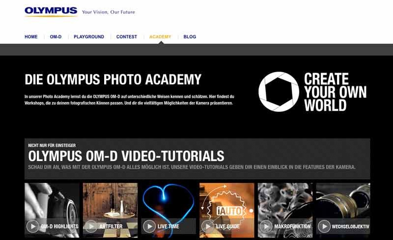 Foto & Cam OM-D Video-Tutorials online und Endspurt beim OM-D: PHOTOGRAPHY CONTEST - News, Bild 1