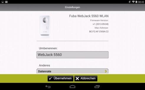 fuba webjack stream bringt sat tv ber die stromleitung. Black Bedroom Furniture Sets. Home Design Ideas