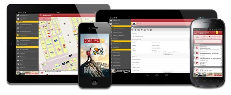 mobile Devices OutDoor Messe-App 2013 - News, Bild 1