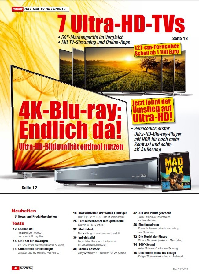 """Heimkino Die Ultra-HD-Blu-ray ist da: Erste exklusive Impressionen in der neuen """"HIFI TEST"""" - News, Bild 2"""