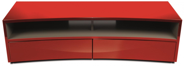 Hifi Möbel Design erstes tv möbel im curved design leicht gekrümmte front