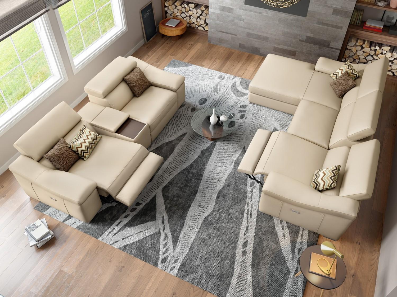 kinosofa von sofanella mit relaxfunktion fu st tze und getr nkehalter. Black Bedroom Furniture Sets. Home Design Ideas