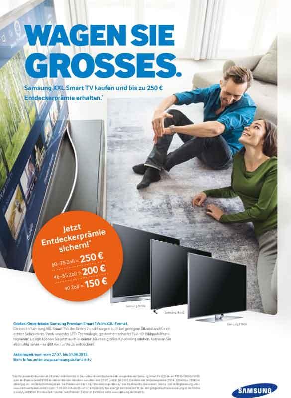 mit samsung gro es wagen samsung xxl smart tv kaufen und entdeckerpr mie sichern. Black Bedroom Furniture Sets. Home Design Ideas