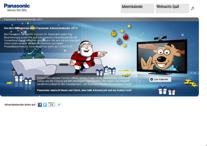 Heimkino Panasonic Adventskalender - News, Bild 1