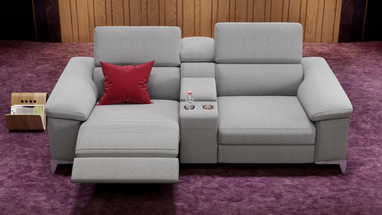 relaxsofa venosa von sofanella f r das heimkino aus stoff oder leder bild 1. Black Bedroom Furniture Sets. Home Design Ideas