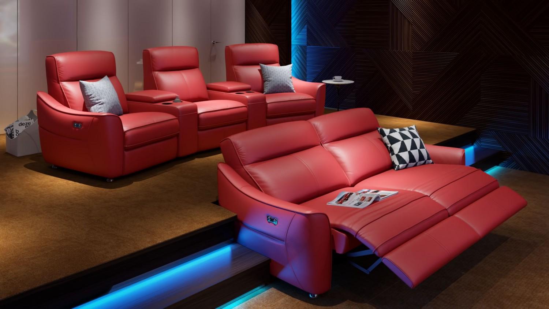 heimkino sofa von sofanella mit relax und usb aufladefunktion. Black Bedroom Furniture Sets. Home Design Ideas