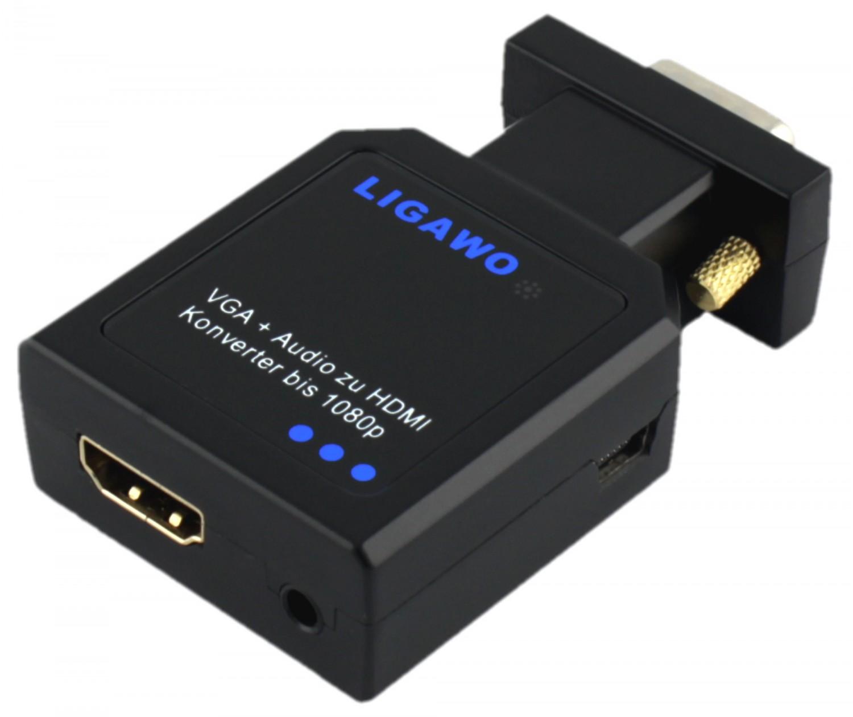 HD-Filmchen vom Notebook zum TV: Adapter für VGA auf HDMI