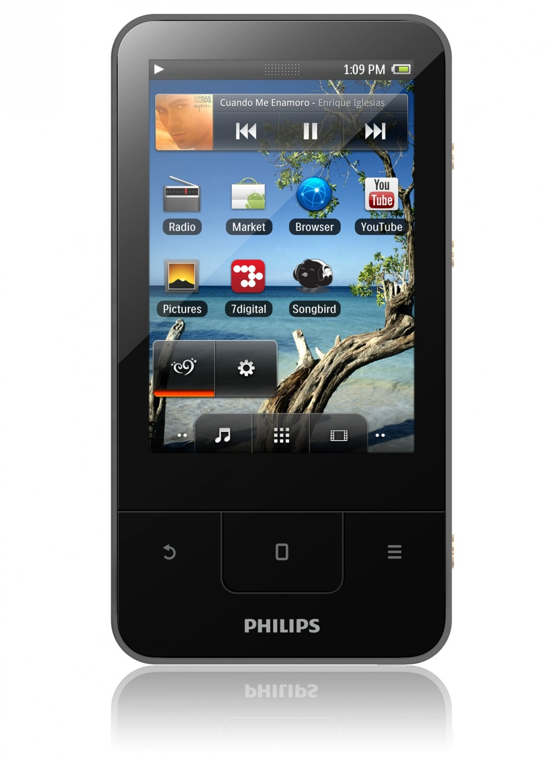 mobile Devices Philips stellt GoGear Connect 3 MP4 Player mit WiFi und Android 2.3 vor - News, Bild 1