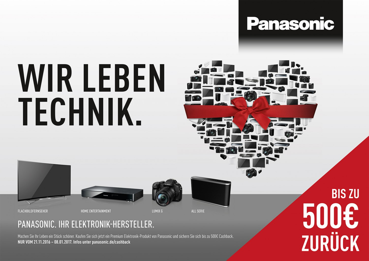 bis zu 500 euro zur ck cashback aktion bei panasonic f r. Black Bedroom Furniture Sets. Home Design Ideas