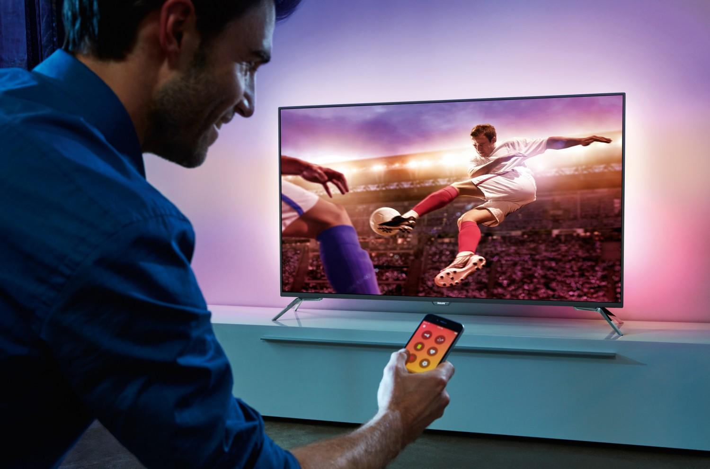 TV Philips mit spezieller Ambilight-App für die Fußball-EM - TV blinkt bei gelber Karte - News, Bild 1