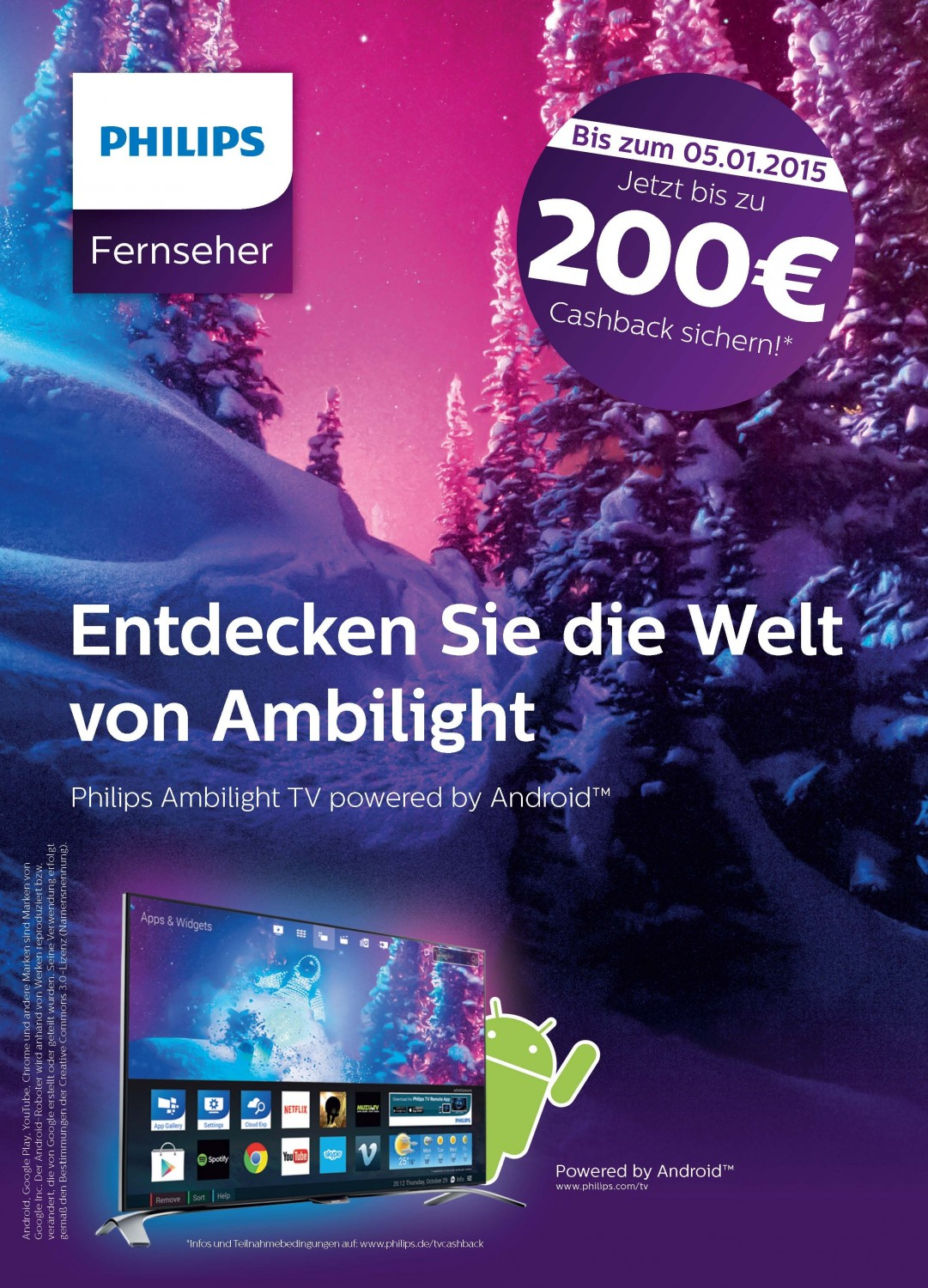 philips zahlt bei fernseher kauf 200 euro zur ck aktion bis 5 januar. Black Bedroom Furniture Sets. Home Design Ideas