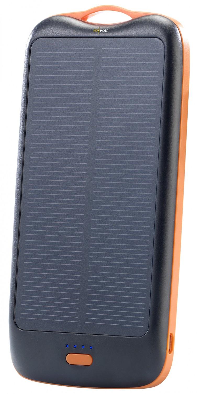smartphone und tablet mit der kraft der sonne laden powerbank mit solarmodul. Black Bedroom Furniture Sets. Home Design Ideas