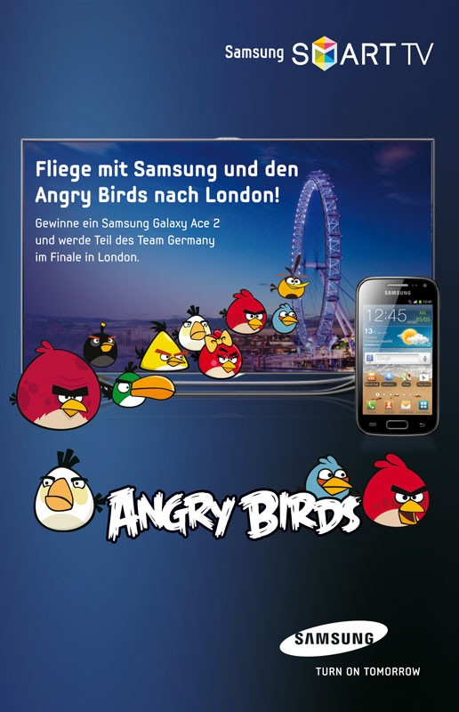"mobile Devices Samsung katapultiert die besten ""Angry Birds""-Spieler nach London - News, Bild 1"