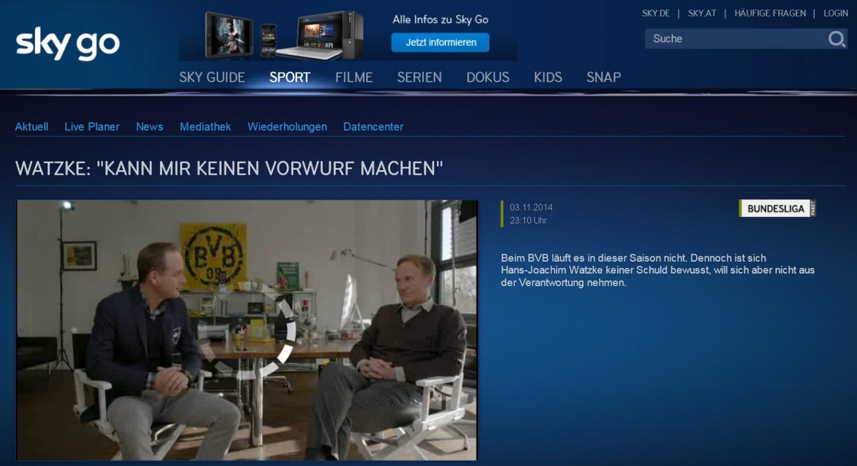 """mobile Devices """"Sky Go"""": Nach Super-Gau bei Bayern - BVB erneuter Ausfall wegen Wartung - News, Bild 1"""