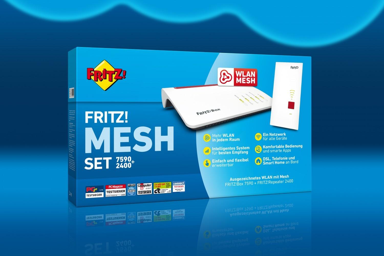 Smart Home Für besseres WLAN im Heimkino: AVM schnürt Paket FRITZ! Mesh Set 7590+2400 - News, Bild 1