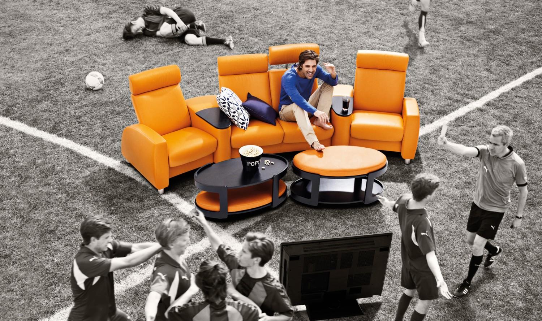 advertorial die fu ball wm 2014 mit stressless im eigenen. Black Bedroom Furniture Sets. Home Design Ideas