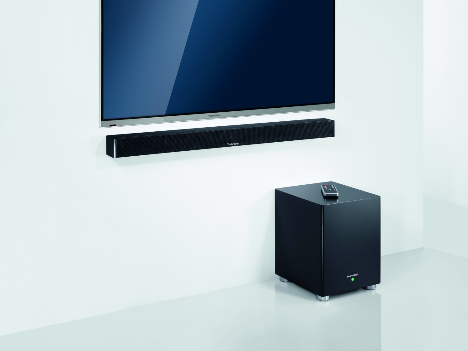 HiFi 2.1-Virtual-Surround-Soundbar von Technisat - kabelloser Subwoofer - News, Bild 1