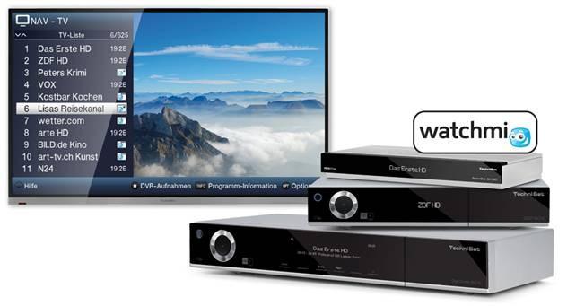 TV Persönliche TV-Kanäle von watchmi ab sofort auf den internetfähigen ISIO-Satellitenreceivern von TechniSat - News, Bild 1