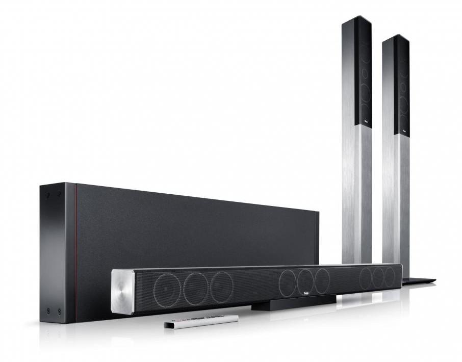 soundbar subwoofer und kabellose rear lautsprecher cinesystem trios von teufel bild 1. Black Bedroom Furniture Sets. Home Design Ideas
