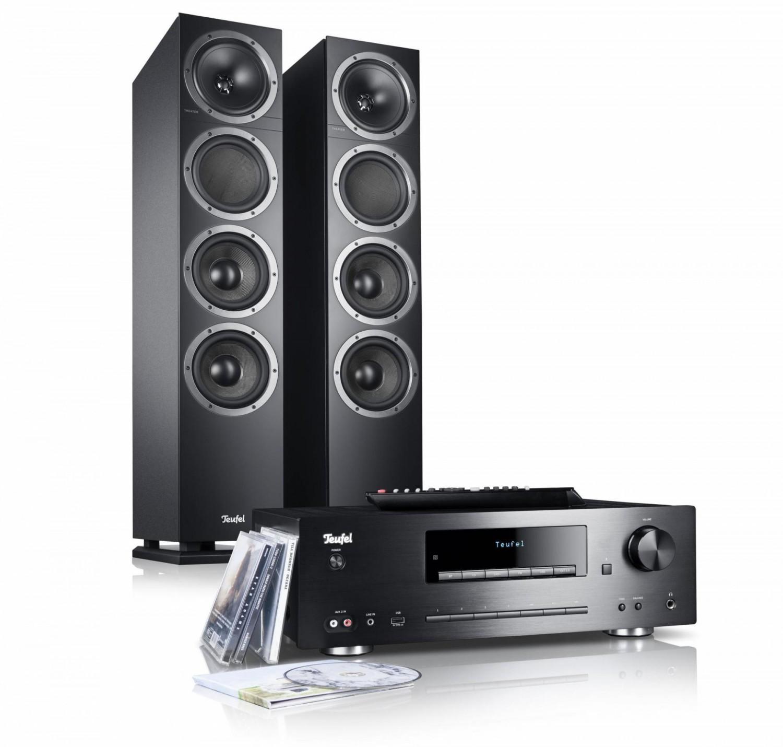 cd receiver und zwei lautsprecher neues stereo bundle von teufel ist da bild 1. Black Bedroom Furniture Sets. Home Design Ideas
