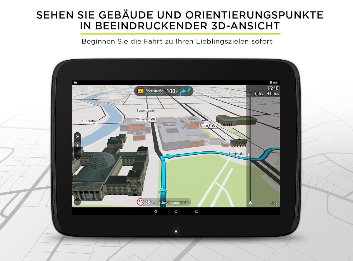 neue tomtom app zur navigation auf android ger ten. Black Bedroom Furniture Sets. Home Design Ideas