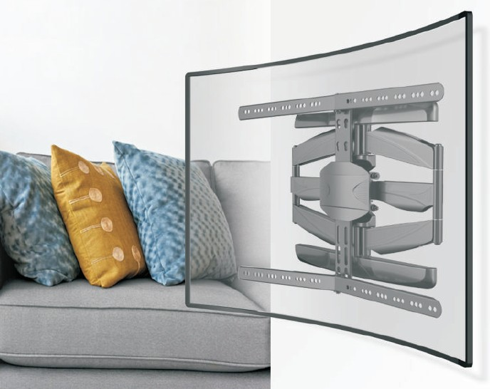 wandhalterung f r gekr mmte fernseher bis 45 kilo gewicht. Black Bedroom Furniture Sets. Home Design Ideas