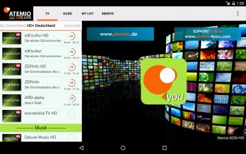 mobile Devices Neue Atemio-App: Fernbedienung für Receiver - Live-Streaming und EPG - News, Bild 1