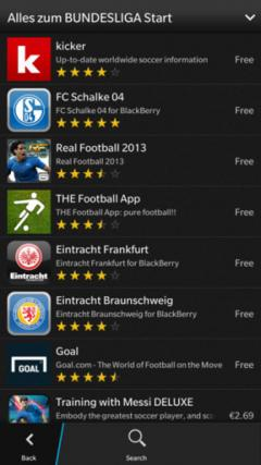 mobile Devices BlackBerry App-Newsletter zur Fußball Bundesliga - News, Bild 1