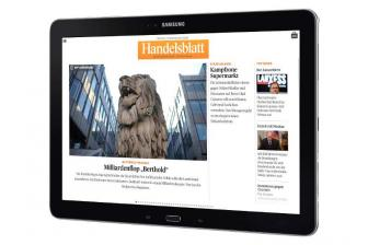 mobile Devices GALAXY NotePRO 12.2 kommt mit Handelsblatt Live - News, Bild 1