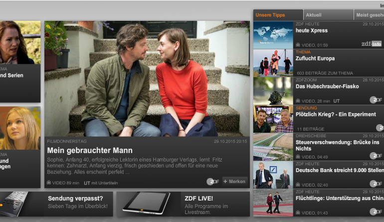 mobile Devices Mediathek des ZDF erobert Apple TV - Videos per Wisch navigierbar - News, Bild 1