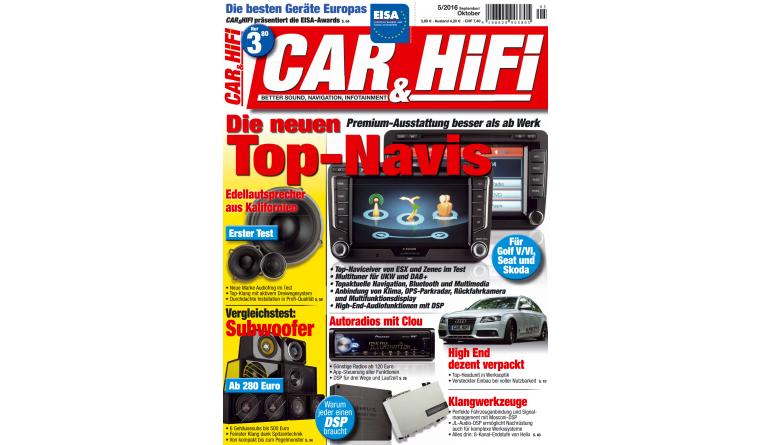 """Car-Media """"CAR&HIFI"""" 5/2016: Die besten Geräte Europas - Top-Navis mit Premium-Ausstattung - News, Bild 1"""