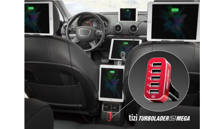 mobile Devices Bis zu fünf Tablets im Auto gleichzeitig laden: tizi Turbolader für den Zigarettenanzünder - News, Bild 1