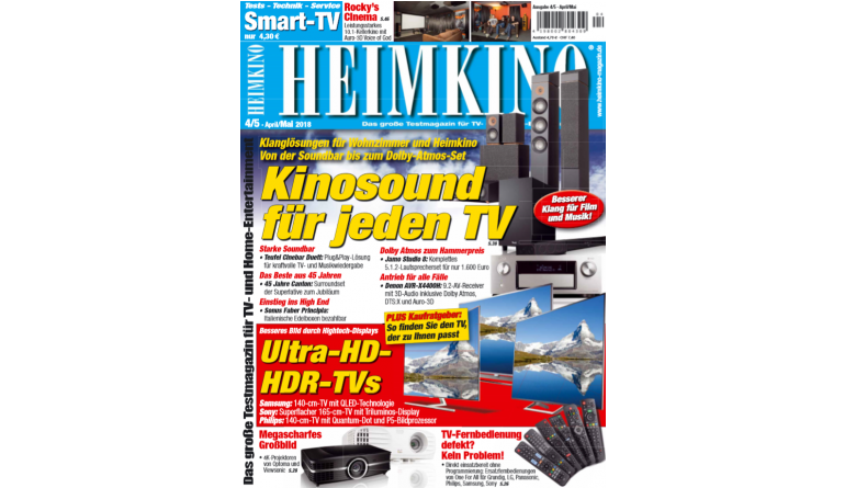 """Heimkino In der neuen """"HEIMKINO"""": Perfekter Kinosound für jeden Fernseher - News, Bild 1"""