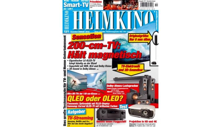 """Heimkino TV-Sensation in der neuen """"HEIMKINO"""": 77-Zoll-OLED von LG hält magnetisch - News, Bild 1"""