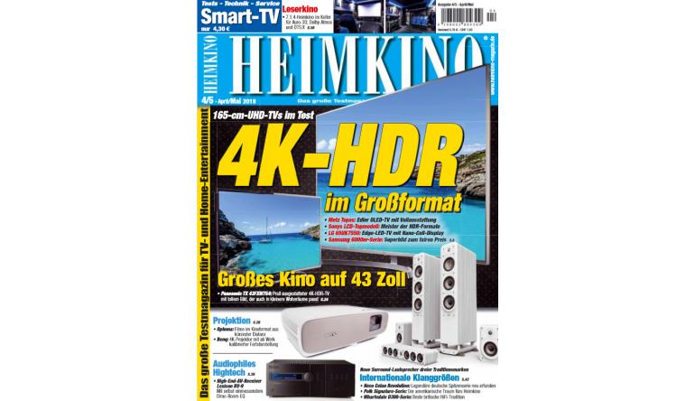 """HiFi In der neuen """"HEIMKINO"""": 4K HDR im Großformat - Internationale Klanggrößen - News, Bild 1"""