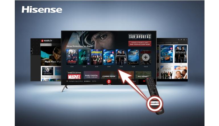 TV Hisense mit spezieller Wuaki.tv-Taste auf Fernbedienung - Filme in UHD streamen - News, Bild 1