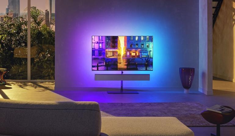 TV Neue Philips OLED+ Fernseher ab Oktober - 20 Prozent heller, HDMI 2.1 und vierseitiges Ambilight - News, Bild 1