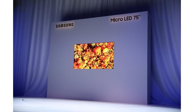 TV CES 2019: Samsung mit neuem 75 Zoll großen Micro LED Display - News, Bild 1