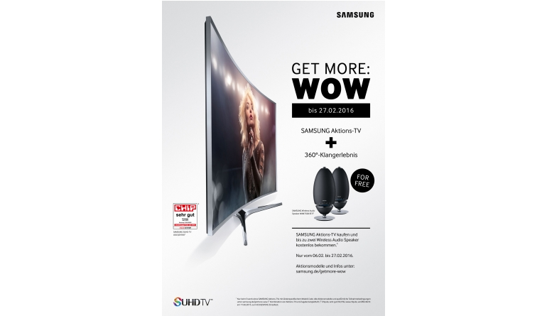 TV Heute letzter Tag: Bis zu zwei Samsung-Rundlautsprecher beim TV-Kauf dazu - News, Bild 1