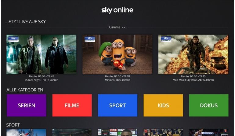 mobile Devices Sky Online jetzt auch über Apple TV - Neue App ist ab sofort verfügbar - News, Bild 1