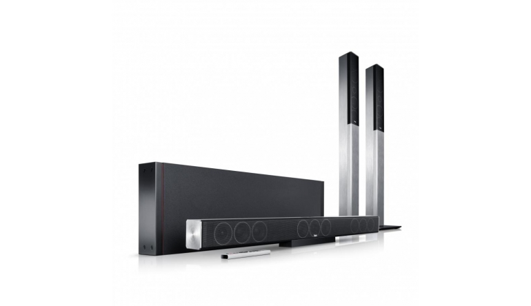 soundbar subwoofer und kabellose rear lautsprecher. Black Bedroom Furniture Sets. Home Design Ideas